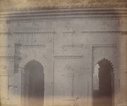 Details of front arches of the Chota Sona Masjid or Small Golden Mosque, Gaur.